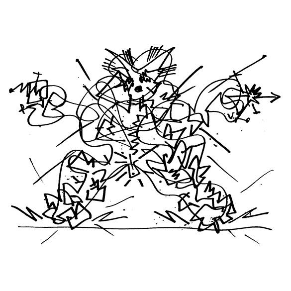 Jeff Keen drawing